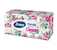 Салфетки косметические Zewa Family 3 слоя, 90 шт.