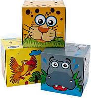 Салфетки косметические Zewa Zoo Cube 3 слоя, 60 шт.