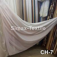 Лён тюль-штора 2 в 1 полоска, ткань для штор