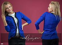 Пиджак женский синий