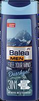 Гель для душа Balea Men 3 in 1 Free Your Mind с ментолом и ледниковой водой 300 ml