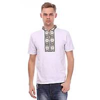 Мужская футболка с цветной вышивкой крестиком