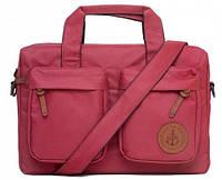 """Деловая сумка для ноутбука 10-12"""" и электронных гаджетов GIN ЛОНДОН-burgundy"""