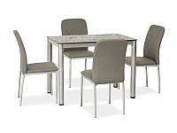 Стеклянный стол Signal Damar серый