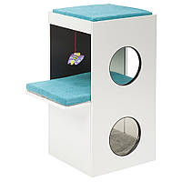 Ferplast (Ферпласт) Blanco Мебель для кошек домик с когтеточкой