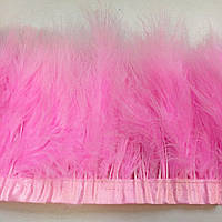 Тесьма из лебяжьих перьев .Цвет  Lt Rose. Цена за 0.5м