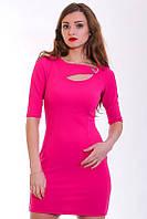 Яркое клубное платье Кейт с оригинальным вырезом и украшением в виде сердечка