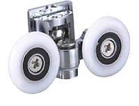 Ролик для гидробокса XD-025: двойной, на 1 крепление, 25 мм, металл.