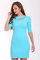 Очаровательное летнее платье в романтичном стиле с украшением