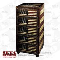 Комод USA Американский стиль с 5 ящиками высокий