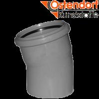 """Отвод 50х15 для внутренней канализации  из полипропилена """"OSTENDORF"""" (Германия)"""