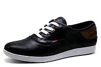 Мужские спортивные туфли Levi's, натуральная кожа, черные, р. 41 42 , фото 1