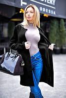 Женское короткое кашемировое пальто с поясом