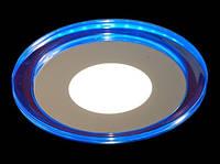Потолочный светодиодный светильник с синей подсветкой 8W 4500K Lemanso