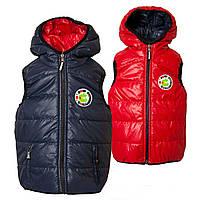 Детская жилетка куртка  демисезонная двухсторонняя
