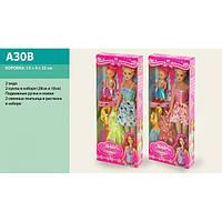 Кукла типа Барби A30B с маленькой куколкой и одеждой в наборе