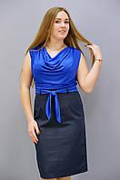 Анхель. Платья супер батал. ЭлектрикСиний., фото 1