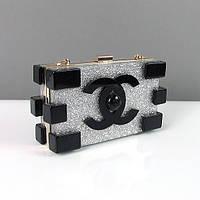 Клатч маленькая сумочка женская серебро 286