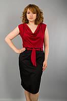 Анхель. Платья супер батал. КрасныйСиний.