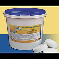 Медленнорастворимые таблетки хлора Crystal Pool Slow Chlorine Tablets Large, 5 кг