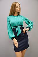 Кито. Молодёжные платья. СинийБирюза., фото 1