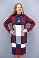 Дженни. Платья больших размеров. Бордо., фото 1