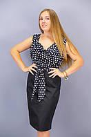 Анхель. Платья больших размеров. Горох., фото 1