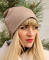 Фэшн. Молодёжные женские шапки. Бежевый.