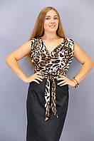 Анхель. Платья больших размеров. Леопард., фото 1