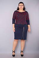 Волна.Платья больших размеров. КрасныйГорох., фото 1
