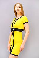 Элиз. Платье супер батал. ЖелтыйСиний.(Р)., фото 1