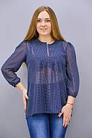 Камалия. Блузы больших размеров. СинийГорох.(Р)., фото 1