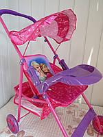 Коляска игрушечная для кукол с пластиковым столиком Анна и Эльза