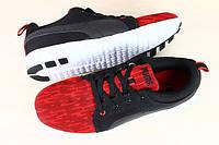 Мужские кроссовки puma eco ortholite красные с черным на белой подошве облегченные