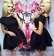 Платье с неопрена с открытой спинкой. Расцветки
