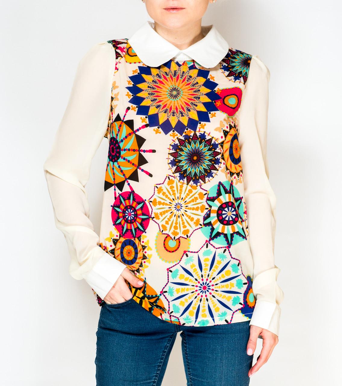 Купить Блузку Разноцветную