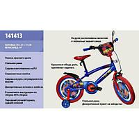 Велосипед 2-х колес  со звонком, зеркалом, с вставками в колесах