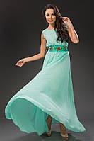 """Легкое нарядное платье с поясом """"Дебора"""""""