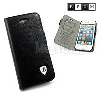 Brum Premium Кожаный чехол-книжка для Apple iPhone 5/5S (No.47)