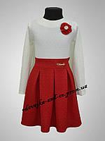 """Детское платье, для девочек,  """"Розалин"""", красное"""