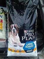 Корм PRO PLAN® ADULT LARGE BREED ROBUST для собак крупных пород с мощным телосложением: курица с рисом 14кг