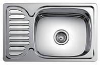 Врезная мойка кухонная 6642 см Platinum поверхность декорированная 0,8 мм глубина 18 см