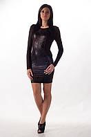 Клубное облегающее платье с открытой спиной