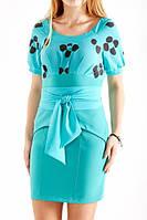 Платье нарядное с ярким поясом