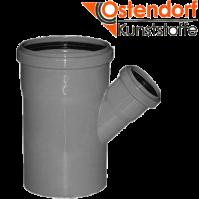 """Тройник 50/40х67 для внутренней канализации  из полипропилена """"OSTENDORF"""" (Германия)"""