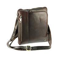 Мужская кожаная сумка-планшет на плечо Visconti Roy ML20 коричневый