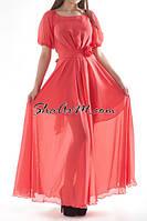Платье длинное вечернее шифоновое