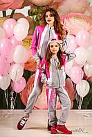 Модный детский спортивный костюм с кофтой на змейке и крутыми штанами с карманами, 116-134 размер