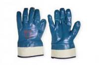 Перчатка маслостойкая нитрил (синие) с широким манжетом