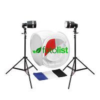 Набор для предметной съемки Arsenal Sy8000, 2x55Дж, лайткуб 60х60х60см, 4 фона